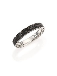 John Hardy Classic Chain Black Sapphire And Sterling Silver Band Ring Black Silver