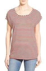 Women's Gibson Cold Shoulder Stripe Tee
