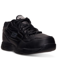 Skechers Men's Relaxed Fit Felton Altair Work Sneakers From Finish Line Black Leather