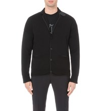 Sacai Fine Knit Wool Cardigan Black