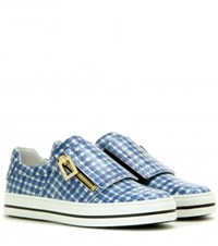 Roger Vivier Mytheresa.Com Exclusive Sneaky Viv Leather Sneakers Blue