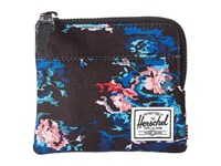 Herschel Johnny Floral Blur Coin Purse Black