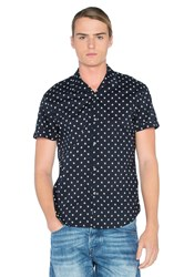 Scotch And Soda All Over Printed Shirt Navy