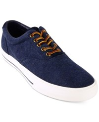 Polo Ralph Lauren Men's Vaughn Fleece Lace Up Fashion Sneakers Men's Shoes Dark Blue