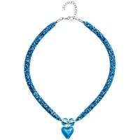 Martick Spacedust Murano Heart Necklace Turquoise