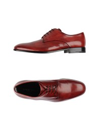 Giorgio Armani Footwear Lace Up Shoes Men Red