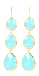 Latelita London Drop Earring Gold Light Blue