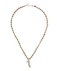 Beaded Necklace With Feather Charm An Old Soul
