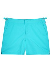 Orlebar Brown Bulldog Aqua Swim Shorts Blue