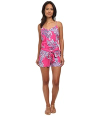 Lilly Pulitzer Dusk Romper Capri Pink Women's Jumpsuit And Rompers One Piece