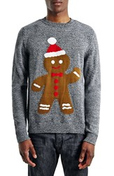 Men's Topman Holiday Gingerbread Man Crewneck Sweater
