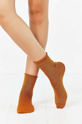 Out From Under Sparkle Party Anklet Sock Bronze