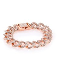 Adriana Orsini Thick Pave Chain Bracelet Rose Gold