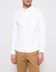Native Youth Washed Cotton Curved Shirt White