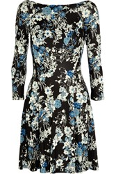 Erdem Vivi Floral Print Jersey Mini Dress