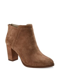 424 Fifth Larita Suede Booties Taupe