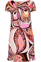 Emilio Pucci Printed Stretch Jersey Mini Dress Pink