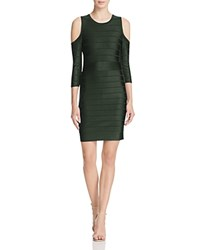 French Connection Spotlight Story Cold Shoulder Bandage Dress Pine Forest Green