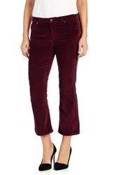 Paige Women's Colette Crop Flare Pants Ruby Red