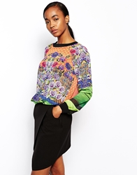 Clover Canyon Sweatshirt In New Grange Clover Pastures Print Multi