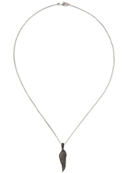 Garrard 'Wing' Diamond Pendant Necklace Metallic