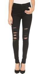 J Brand 23110 High Rise Photo Ready Maria Jeans Black Heart