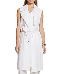 Vince Camuto Linen Trench Vest Ultra White