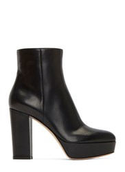 Gianvito Rossi Temple Platform Ankle Boots Black