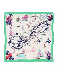 Jucca Square Scarves Light Green
