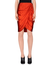 Salvatore Ferragamo Knee Length Skirts Red