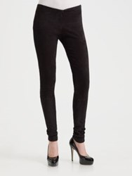 Alice Olivia Suede Legging Pants Chocolate