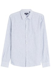 Woolrich Cotton Shirt With Linen Stripes