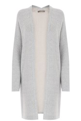 Oasis Two Tone Cosy Cardigan Grey