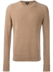 Rag And Bone Round Neck Ribbed Jumper Nude Neutrals