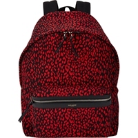 Saint Laurent Babycat Pattern Backpack Red