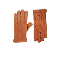 Barneys New York Suede Gloves Brown