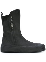Ann Demeulemeester Round Toe Boots Black