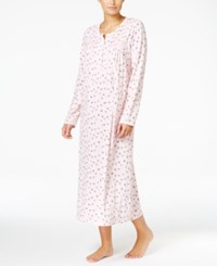 Charter Club Smocked Printed Knit Nightgown Only At Macy's Pink Daisy