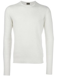Drumohr Crew Neck Jumper White
