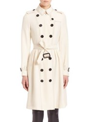 Burberry Edenfall Silk Trench Coach Parchment