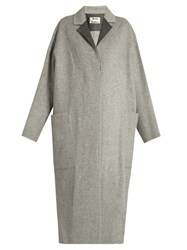 Acne Studios Amery Oversized Wool And Cashmere Blend Coat Grey