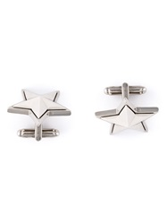 Givenchy Star Cufflinks Metallic