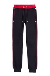 Balmain Cotton Sweatpants Blue