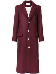 Julien David Single Breasted Coat Red