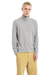 Our Legacy Army Jersey Turtleneck Tee Grey Melange