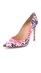 Mary Katrantzou Lisa Print Sateen Pumps Barely Pink Philippe