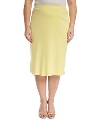 Ming Wang Knee Length Pencil Skirt Suo