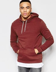 New Look Hooded Sweatshirt In Rust Rust Red