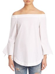 Free People Off The Shoulder Tunic White