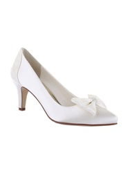 Rainbow Perry Lace Panel Court Shoes Ivory